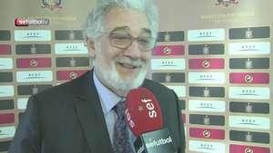 Plácido Domingo siente que España puede ganar el Mundial Video: