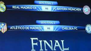 Madrid-Bayern y At. Madrid-Chelsea, semifinales de Champions Video: EFE