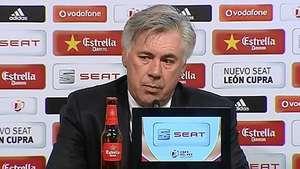 Ancelotti afirma haber merecido el triunfo ante el Barça Video: