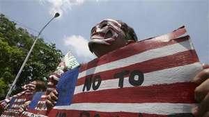 Protestas en Manila contra la visita de Obama Video: