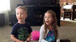 La emocionante reacción al saber que tendrán un hermanito Video: