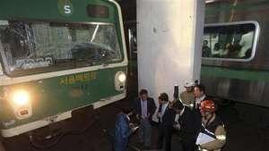 Chocan dos trenes del subte en Seúl: al menos 100 heridos Video: