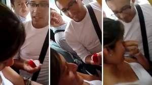 Un joven le pide matrimonio a su novia a bordo de un bus del Metropolitano Video: