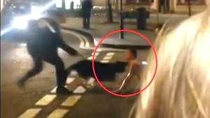 Un perro policía muerde en el cuello a detenido durante revuelta Video: