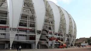 Aceleran trabajos para concluir obras del estadio Beira Río Video: