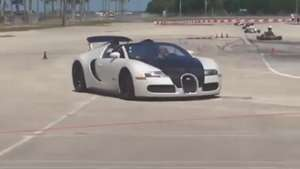 Video: Accidente Bugatti Grand Sport Blanc Noir (solo 1 en el mundo) Video: