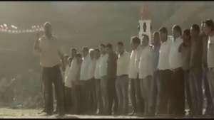 Emotiva arenga mundialera de los mineros en apoyo a la Roja Video: