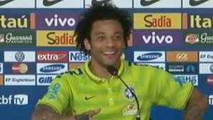 Marcelo se rie de error de periodista en rueda de prensa Video: