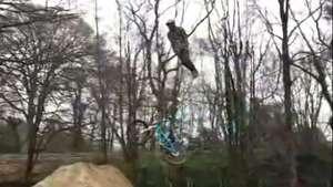 Un ciclista sorprende con salto para ser furor en la web Video: