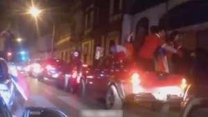 Celebración de hinchas chilenos casi termina en tragedia Video:
