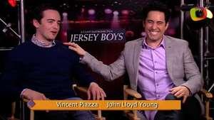John Lloyd Young y Vincent Piazza ríen de su tempestuosa aventura en 'Jersey Boys' Video: