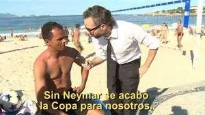 Reacción de hinchas brasileros tras falsa noticia sobre Neymar Video: