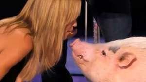 Cerdito las hizo todas y se agarra a besos con Heidi Klum Video: