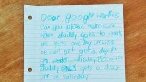La buena noticia: Una niña consigue que Google le de vacaciones a su padre Video: