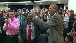 Obama eufórico con la selección de Estados Unidos Video: