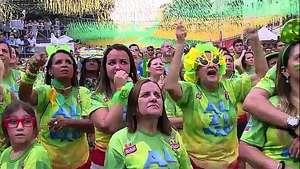 Alzirao, la fan fest de los brasileños en Río de Janeiro Video: