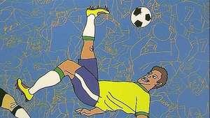 El fútbol inspira a los artistas brasileños Video: