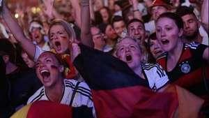 Alemania eufórica con su selección Video: