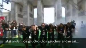 Alemanes se burlan en plena celebración de los Argentinos Video: