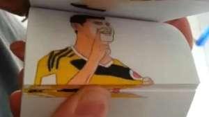 Animación en papel recrea los mejores goles del Mundial Video: