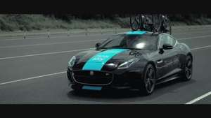Un Jaguar F-Type Coupé de 'contrarreloj' para el Tour de Francia Video: