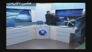 Un debate sobre Siria termina a sillazos en la televisión jordana Video: