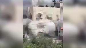 Impresionante: Captan ataque de Israel a domicilio Palestino Video: