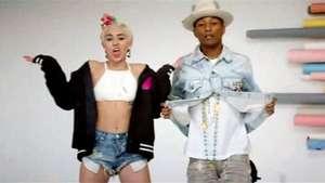 Pharrell Williams estrena videoclip con Miley Cyrus Video: