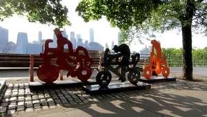122 bicicletas mexicanas adornan las calles de Nueva York Video: