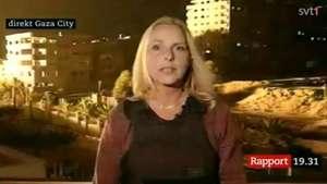Reportera es sorprendida por explosión de un misil en Gaza Video: