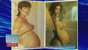 Kourtney Kardashian Compares Her Naked Pregnancy Pose To Her Mother Video: