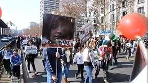 Unas 15.000 personas piden que Chile rompa relaciones con Israel Video: