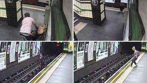 Viento arroja a un bebé a rieles del metro en Londres Video: