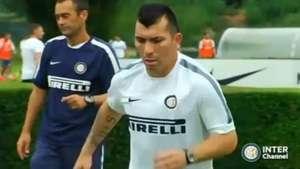 Gary Medel se suma a los entrenamientos del Inter de Milán Video: