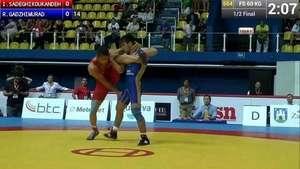 Luchador sorprende en campeonato mundial con extraordinaria maniobra Video: