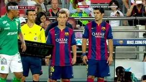 Luis Suárez debuta con el Barcelona en partido amistoso Video: