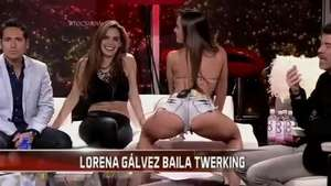 "Conductora de TV sube la temperatura enseñando el ""twerking"" Video:"