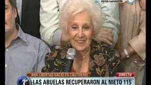 Las Abuelas de Plaza de Mayo recuperaron a la nieta 115 Video: