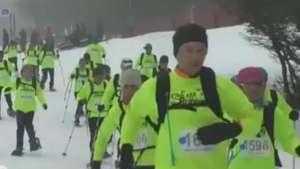 Así es el Snowrunning en raquetas de nieve en Punta Arenas Video: