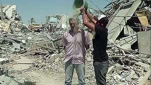 Lanzan en Gaza el desafío del balde con escombros Video: