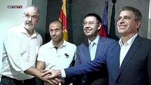 Mascherano amplía su contrato con el Barcelona hasta 2018 Video: