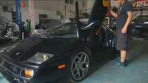 Video: Ingeniero chino se fabrica su propio Lamborghini Diablo Video: