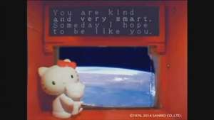 Hello Kitty conquers space Video: