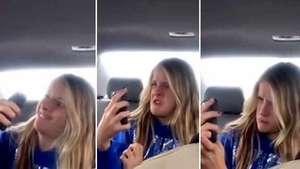 Padre filma la expresiva sesión de 'selfies' de su hija Video: