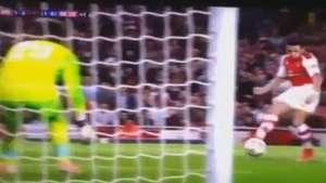Alexis marca su primer gol por el Arsenal en Champions Video: