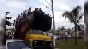 Celebración en Brasil termina abruptamente y en tragedia Video:
