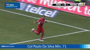 Jornada 7 Toluca 2 - 1 Veracruz Video: