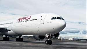 Aterriza en Montevideo el primer vuelo de Iberia en año y medio Video: