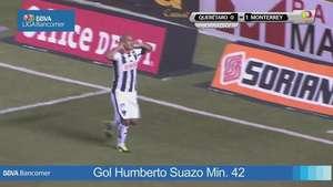 Chupete Suazo le da victoria al Monterrey ante el Querétaro Video: