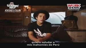 Austin Mahone manda saludos a sus fans peruanos Video: